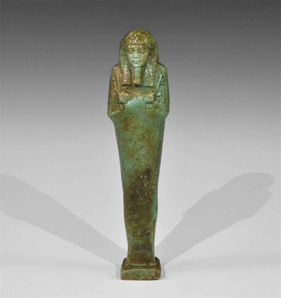 Egyptian Faience Shabti Figurine