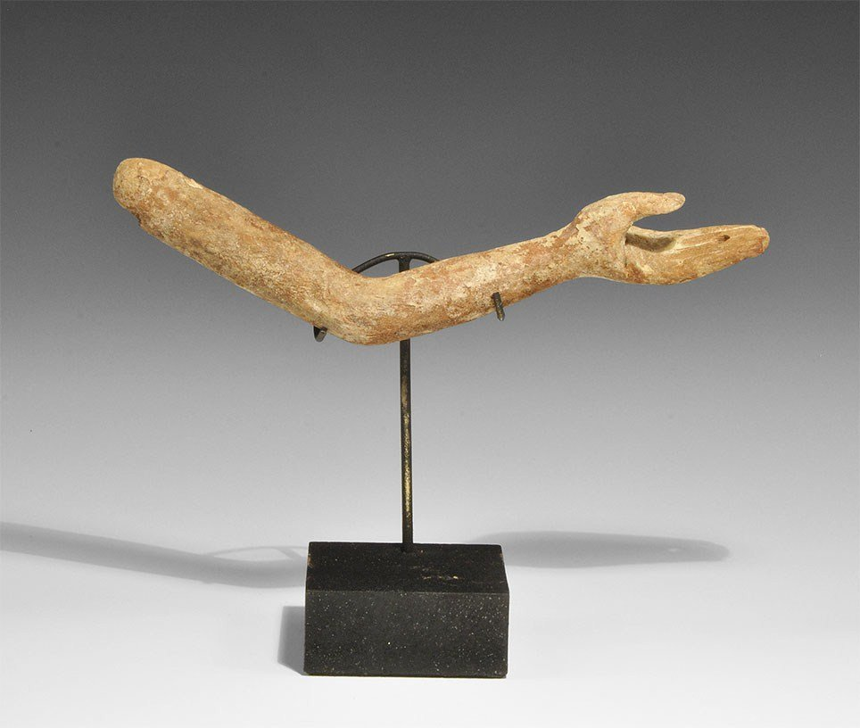 Egyptian Wooden Statue Arm