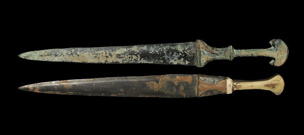 Near Eastern Luristan Bronze Dagger Group