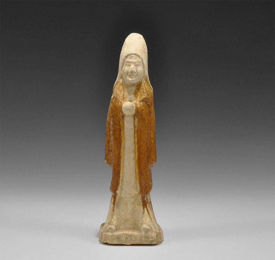 Chinese Glazed Ceramic Soldier Figurine