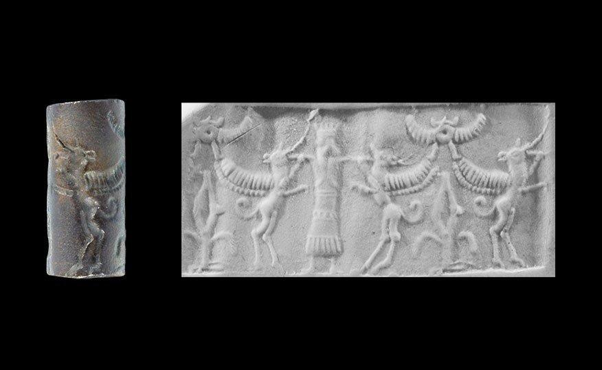 Near Eastern Achaemenid Style Stone Master of Animals C
