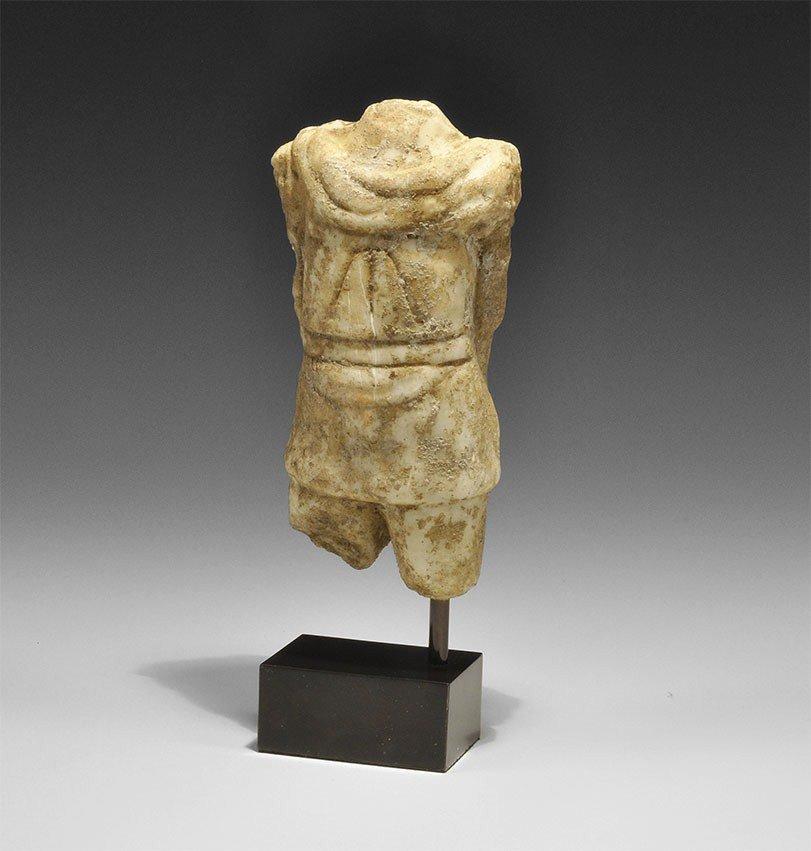 Roman Marble Torso of a Man