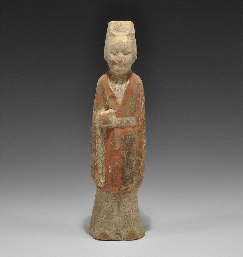 Chinese Ceramic Attendant Figurine