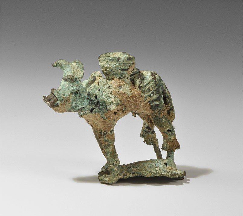 Near Eastern South Arabian Bronze Bull Figurine