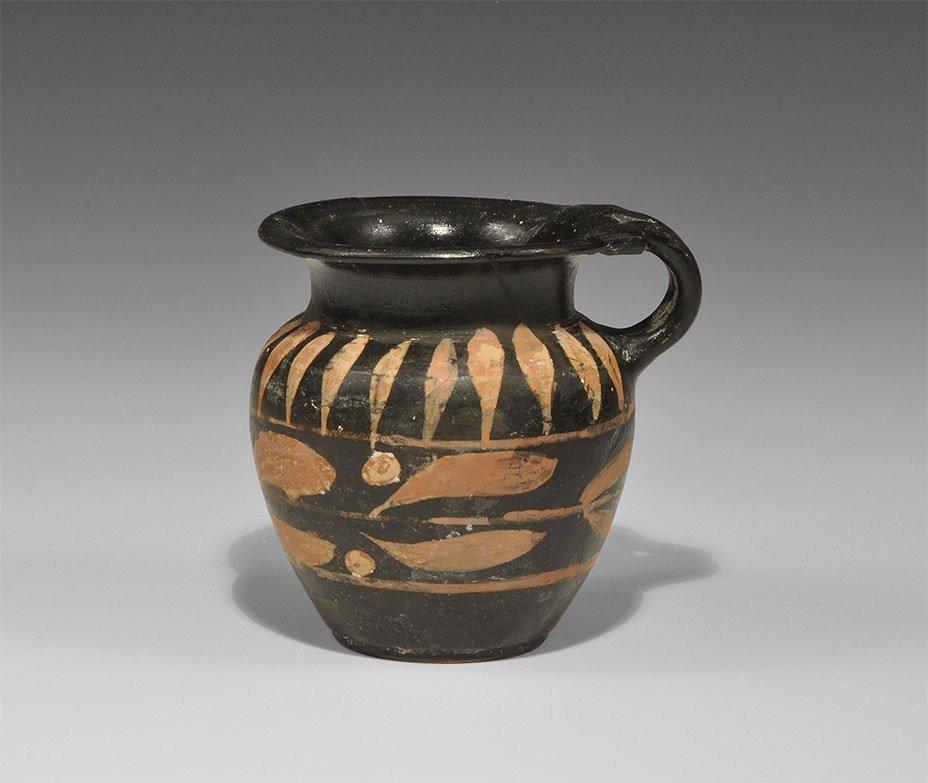 Greek Black-Glazed Mug