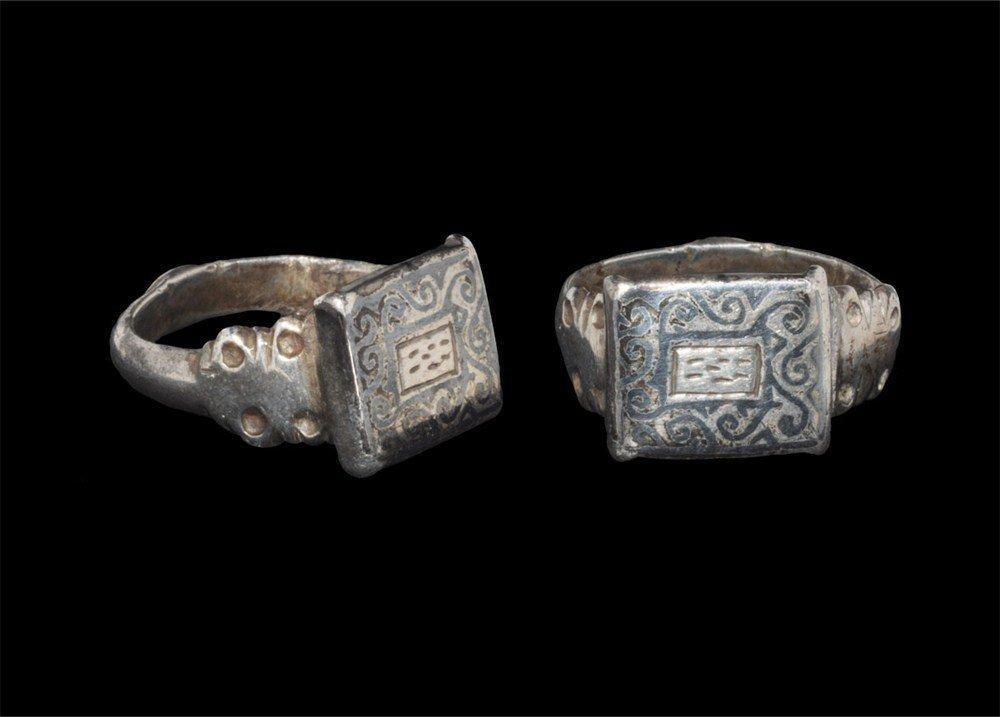 Islamic Silver Ring with Rectangular Bezel