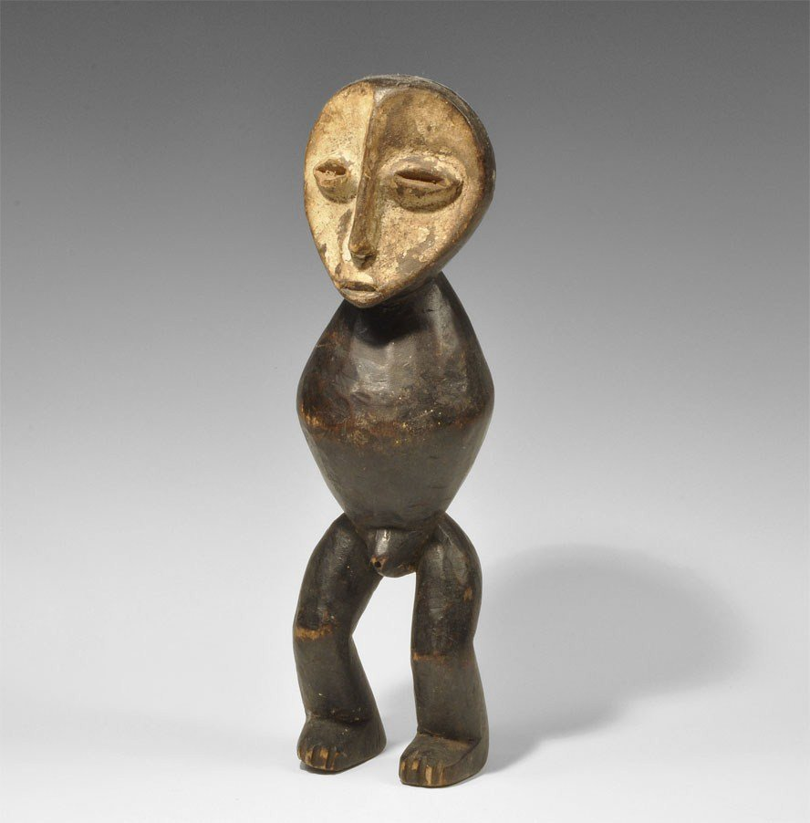 West African Tribal Art Wooden Armless Male Figurine