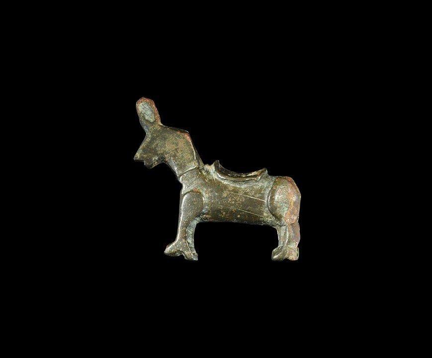 Byzantine Bronze Donkey Lock Casing