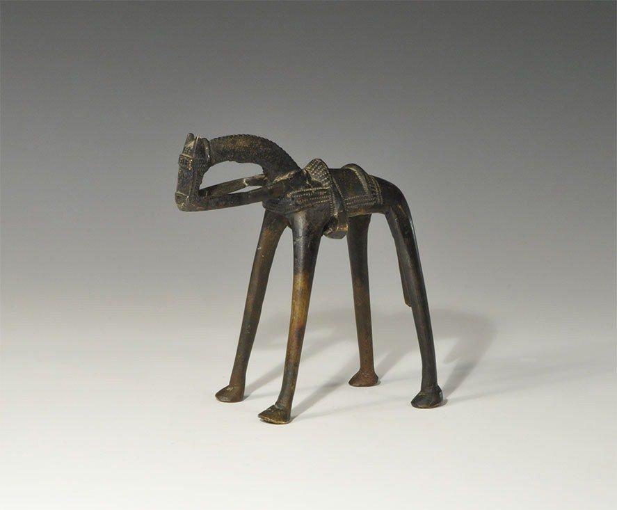 African Bronze Tribal Horse Figurine