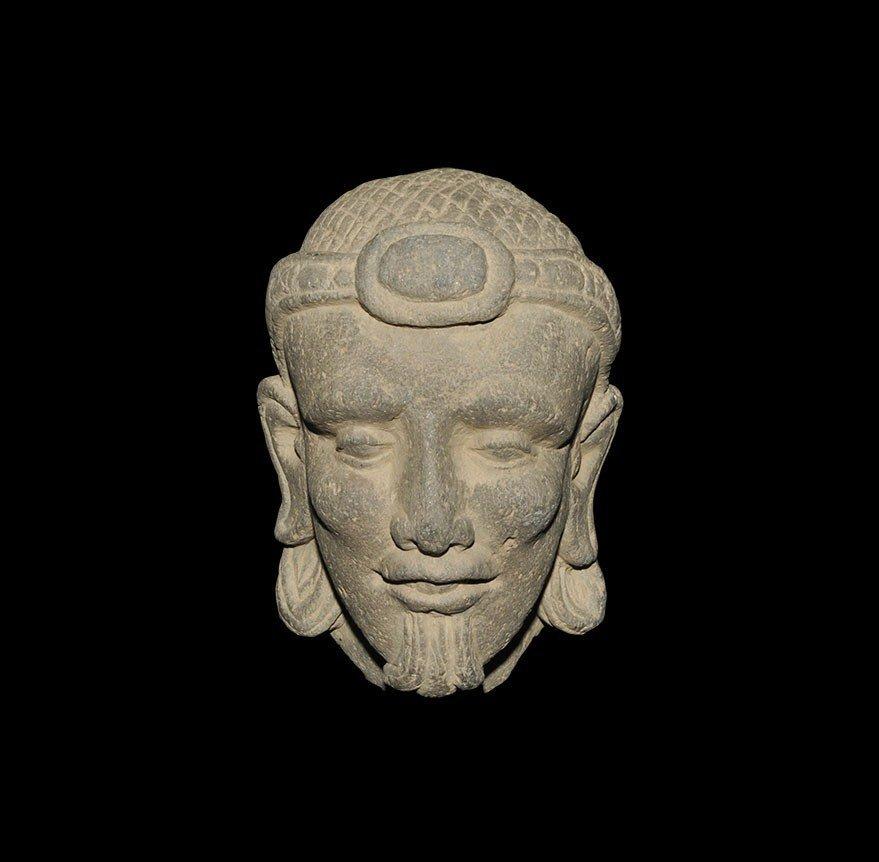 Ghandaran Stone Carved Male Head