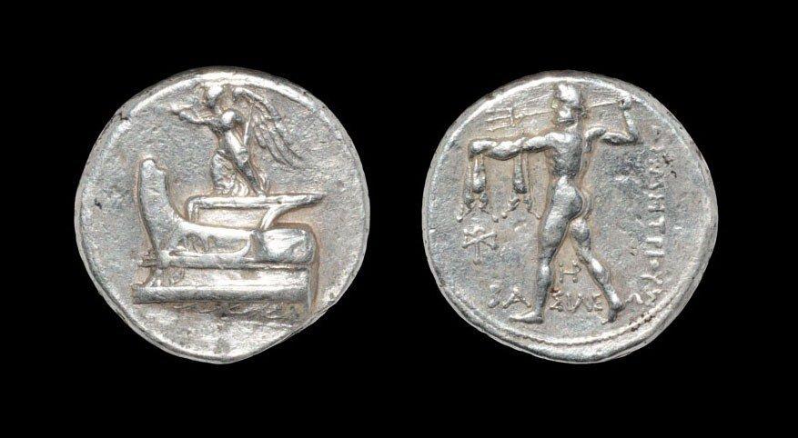 Greek Macedonia - Demetrios I - Poseidon Tetradrachm