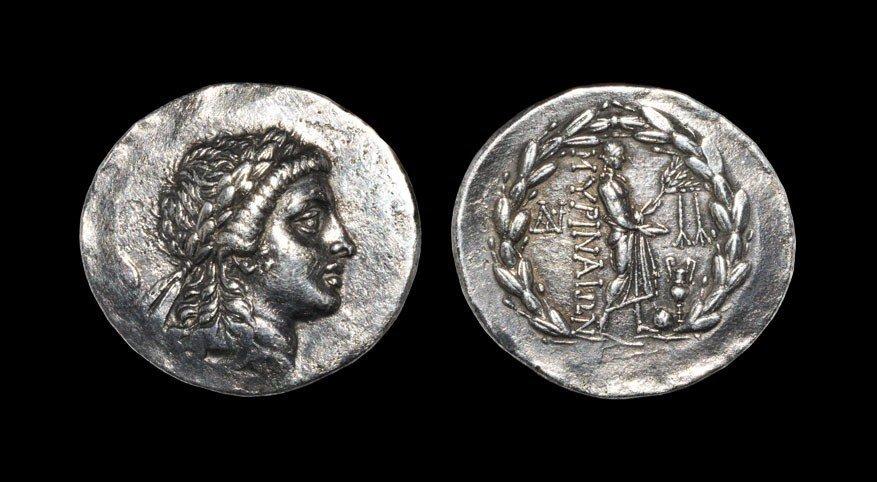 Greek Myrina - Aeolis - Apollo Tetradrachm