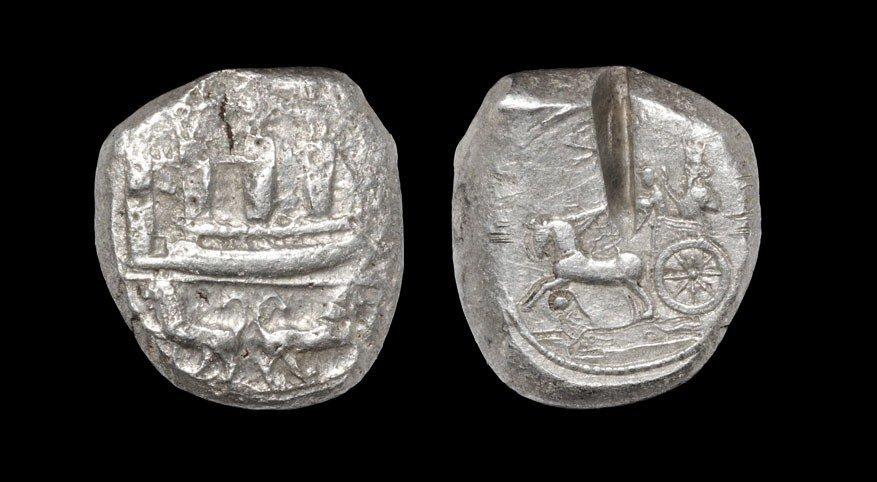 Greek Phoenicia - Sidon - Galley Double Shekel