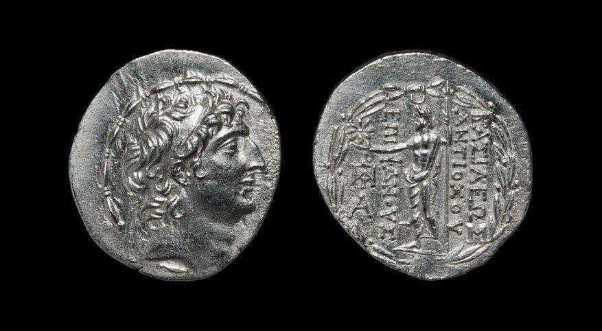 Greek Antiochos VIII - Grypos - Zeus Tetradrachm