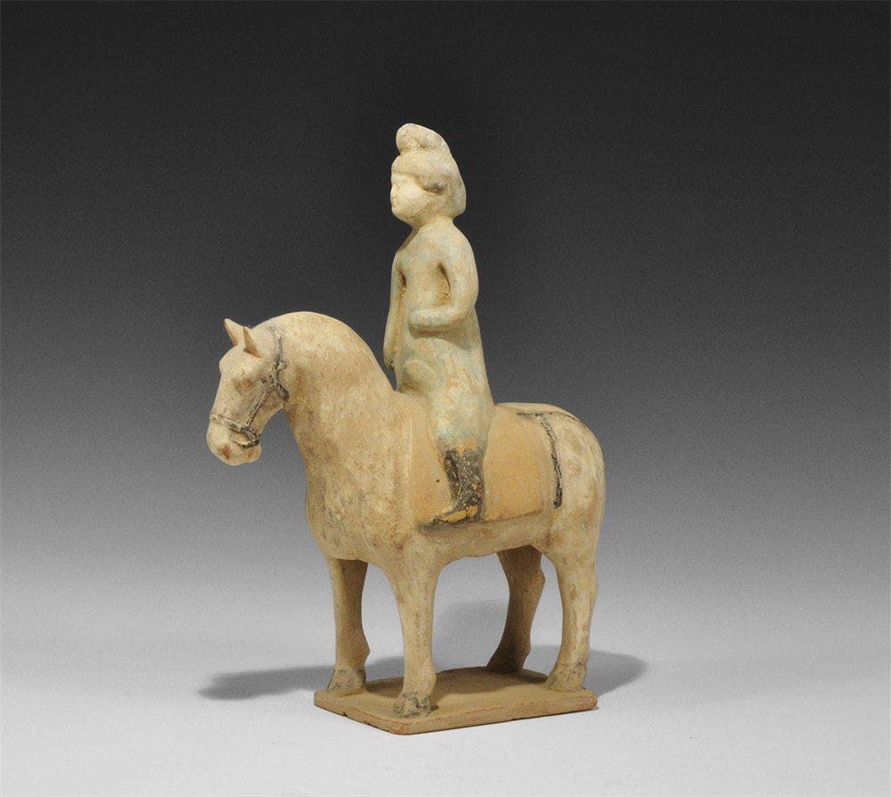 Chinese Horse and Rider Figurine
