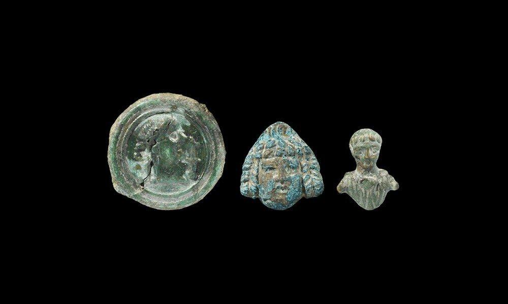 Roman Bronze Military Applique Group