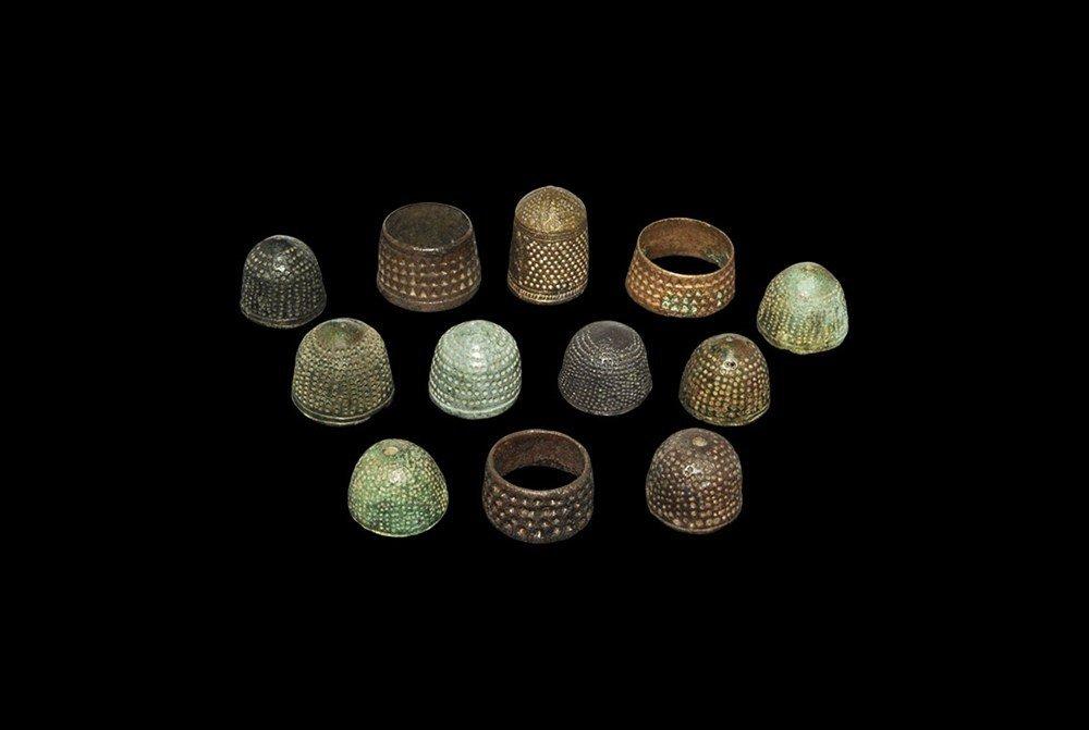 Medieval Bronze Thimble Group