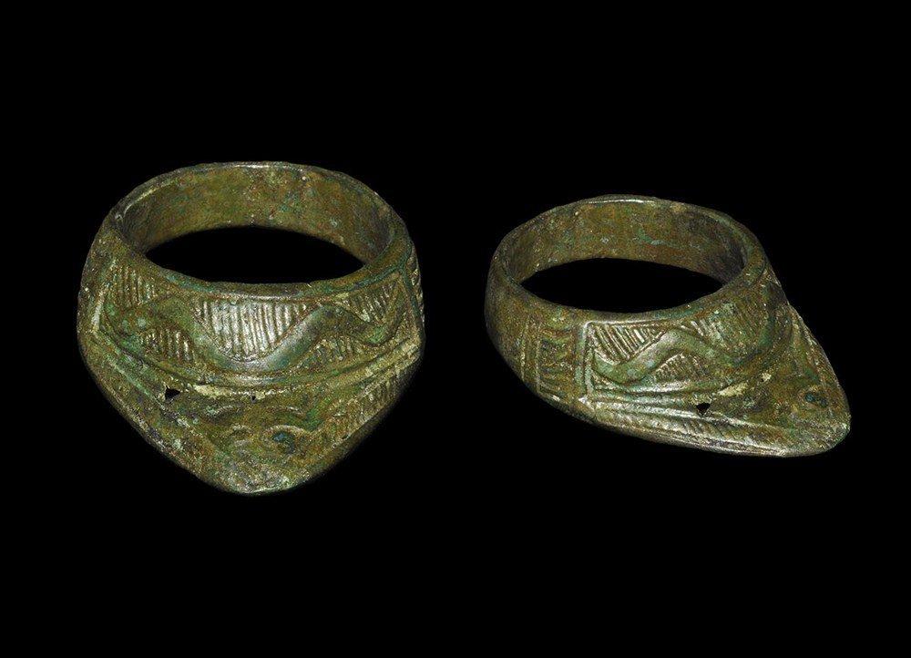 Byzantine Bronze Decorated Archer's Ring