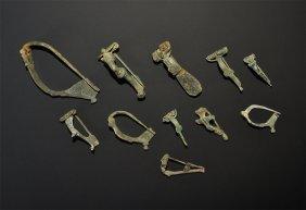 Roman Bronze Brooch Group