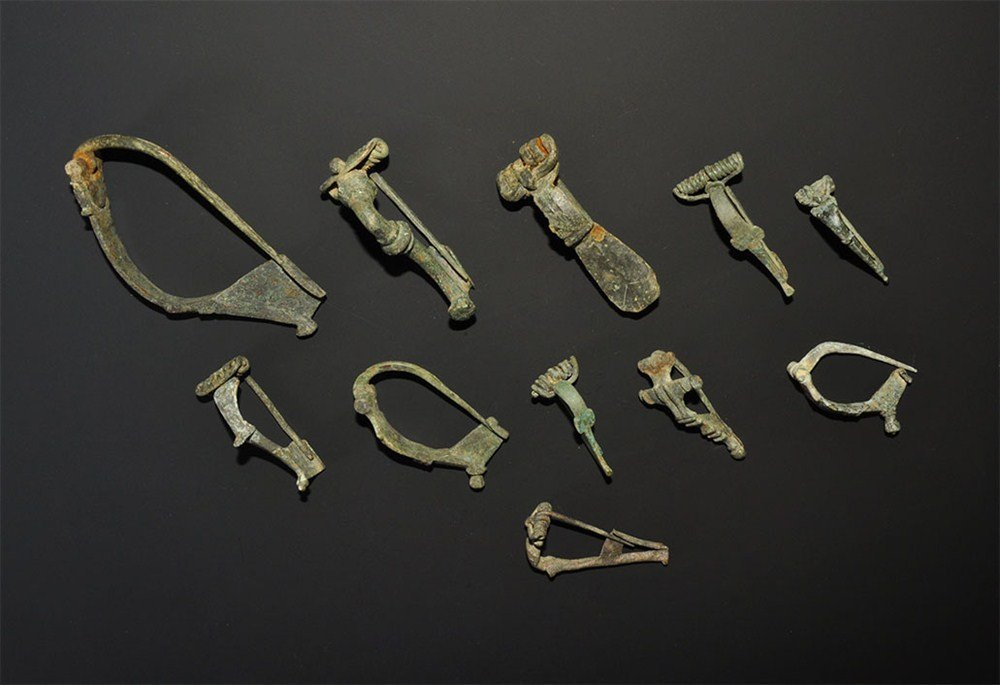 Roman Bronze Brooch Group