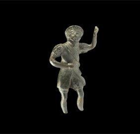 Post Medieval Tudor Bronze Gentleman Statuette