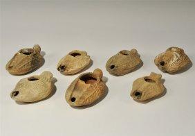 Roman Group Of Ceramic Oil Lamps