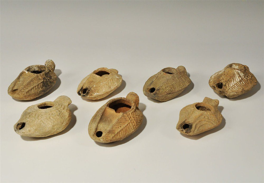 Roman Group of Ceramic Oil Lamps