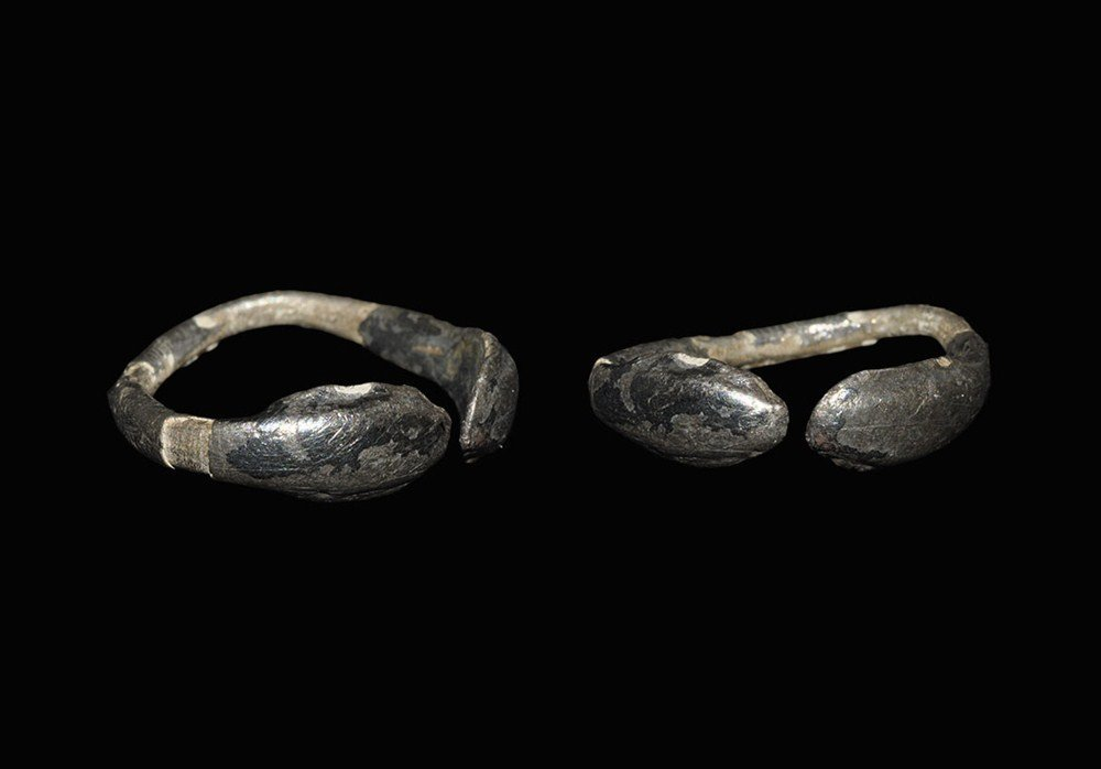 Roman Silver Double Snake-Headed Finger Ring