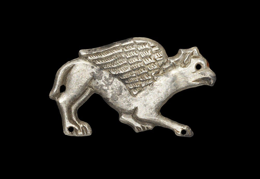 Medieval Silver Griffin Book Mount