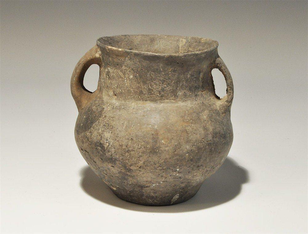 Greek Etruscan Black Glazed Bucchero Ware Jar