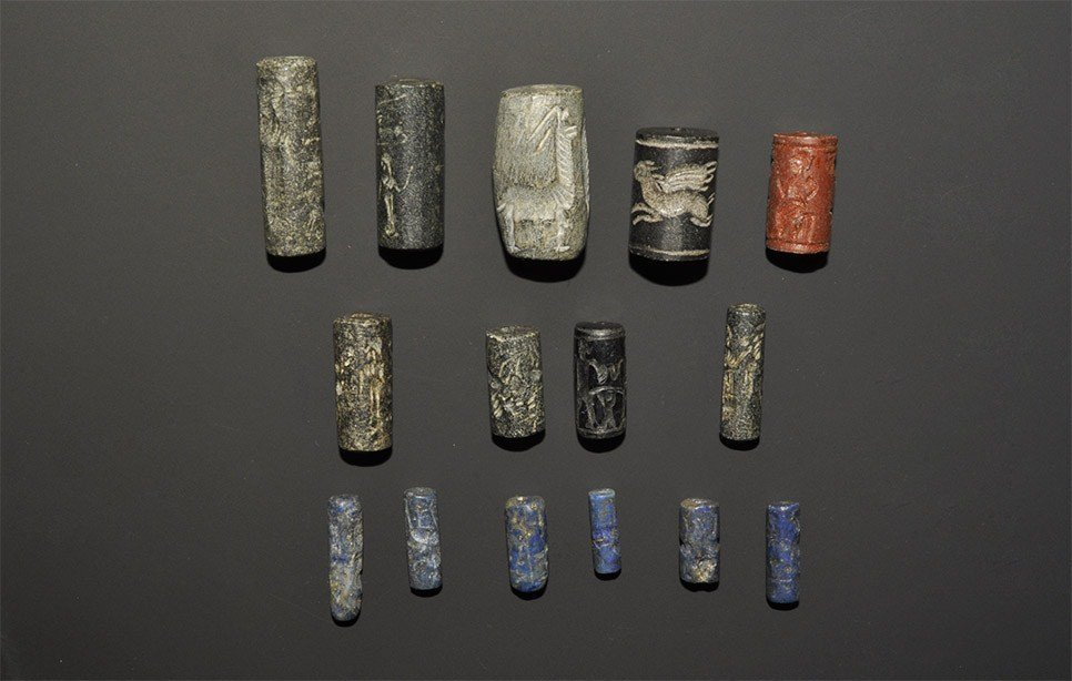 Near Eastern Style Stone Cylinder Seal Group
