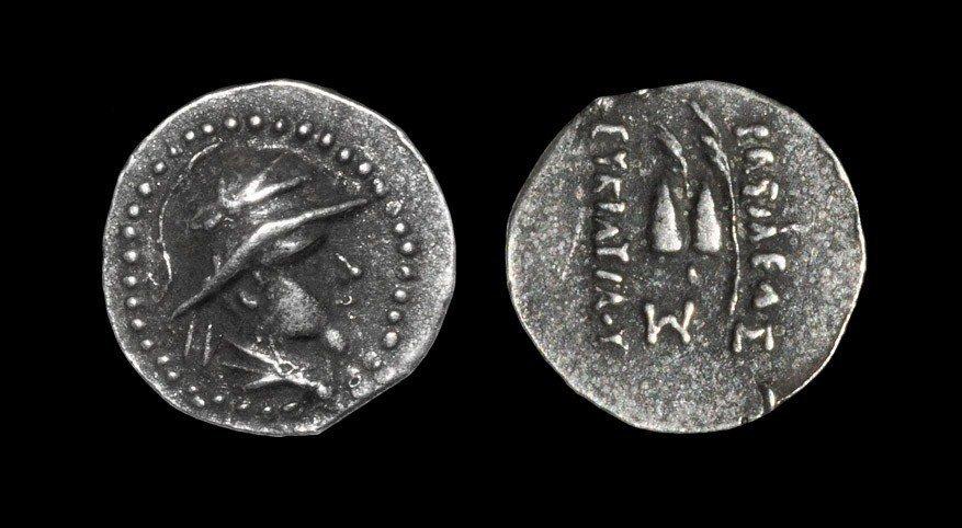 Greek Bactria - Eukratides I - Dioskouri Obol
