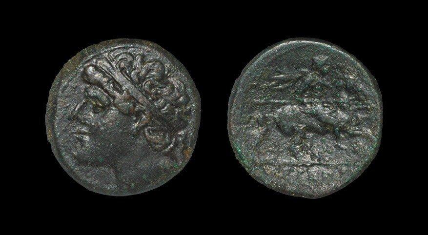 Greek Syracuse - Hieronn II - Portrait Aes