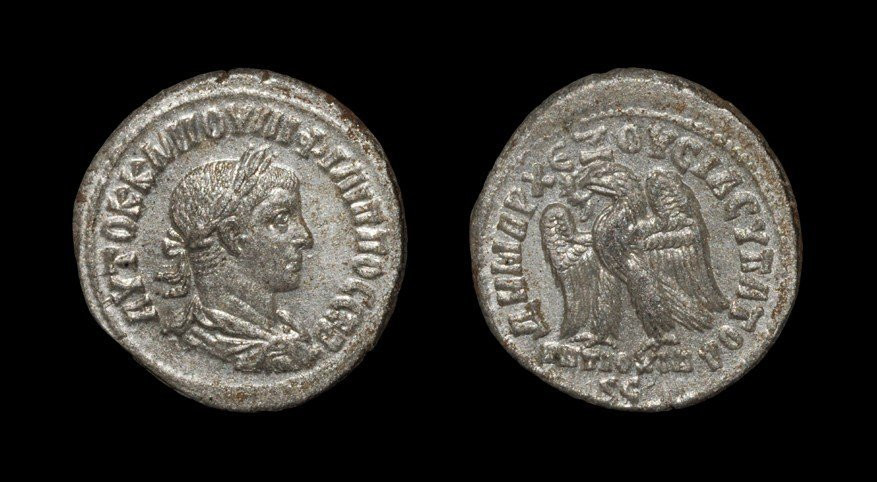 Greek Philip II - Antioch - Eagle Tetradrachm