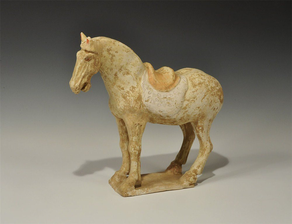 Chinese Painted Horse Figurine