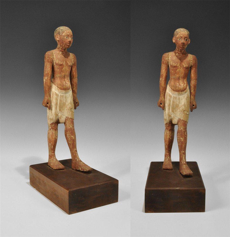 Egyptian Wooden Standing Figure
