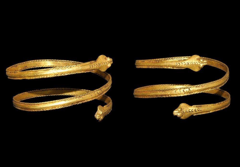 Egyptian Gold Snake Bracelet