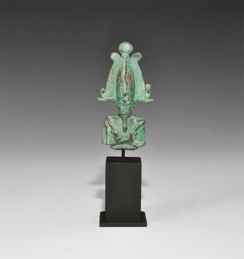Egyptian Bronze Osiris Bust