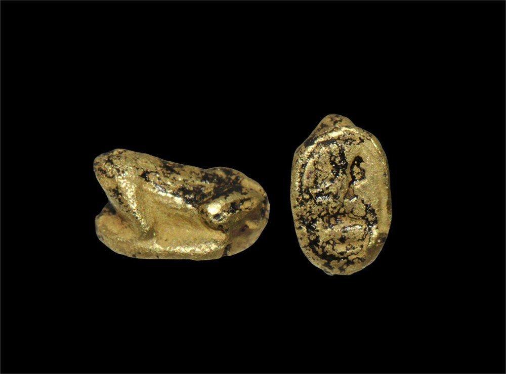 Egyptian Gold Frog Amulet