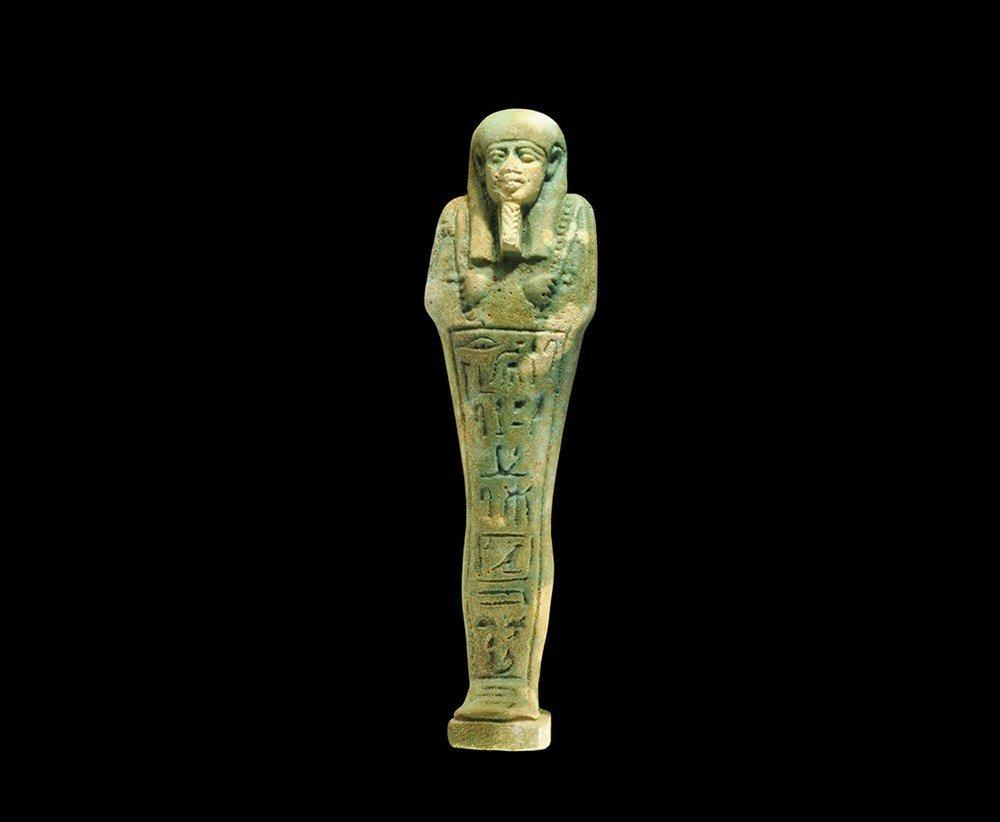 Egyptian Glazed Composition 'Hathor' Shabti
