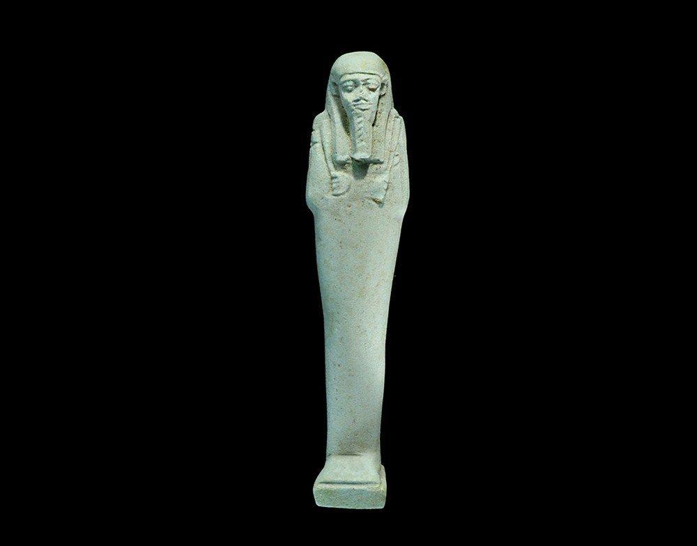 Egyptian Glazed Composition Shabti
