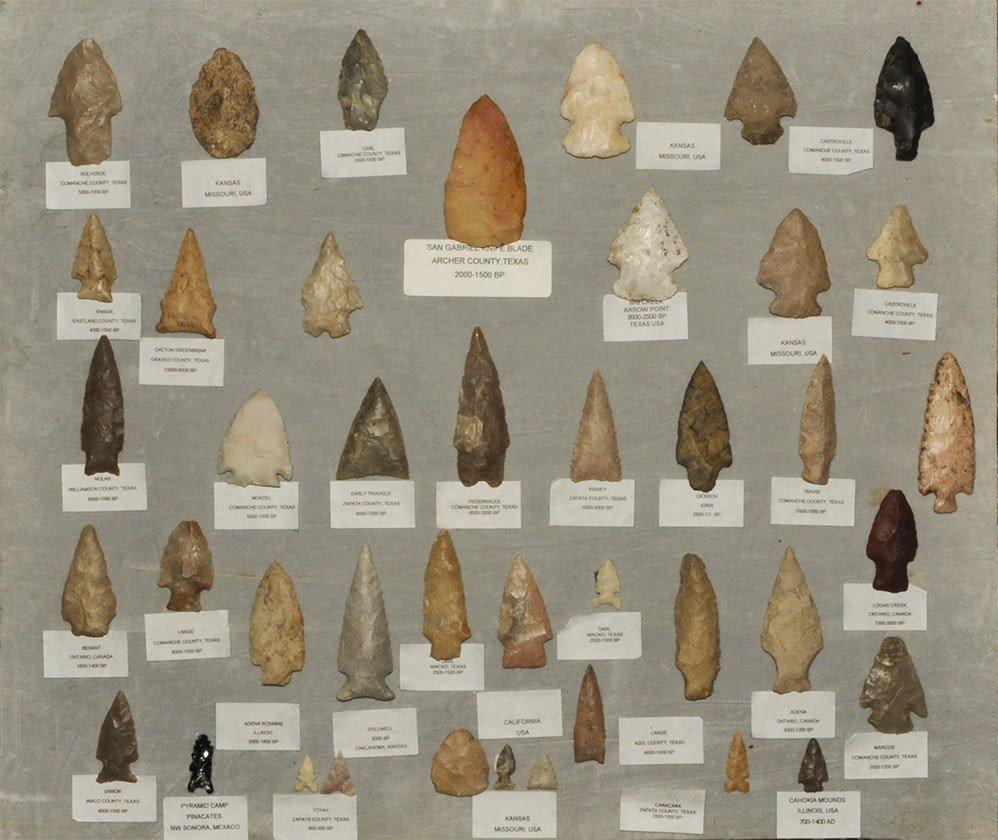 Stone Age North American Stone Arrowhead Collection
