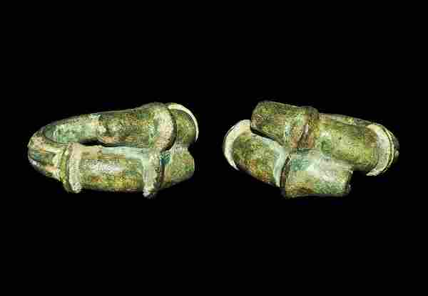 Roman Style Bronze Two-Phalloi Finger Ring