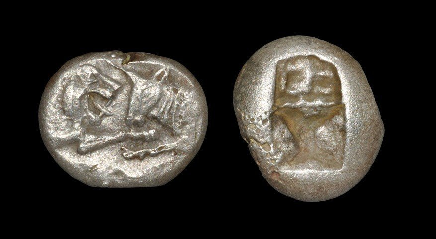 Greek Croesus - Lion and Bull - Silver Half Stater