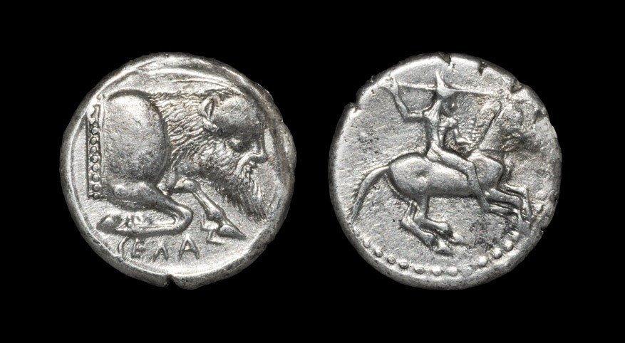 Greek Gela - Horseman Didrachm