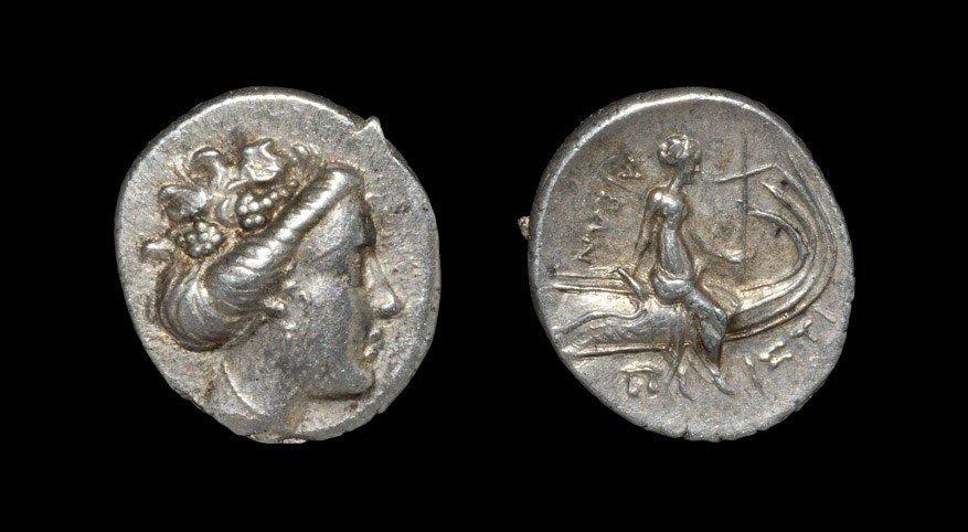 Greek Histiaia - Nymph Triobol