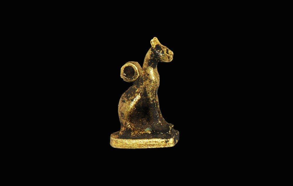 Egyptian Gold Bastet Amulet