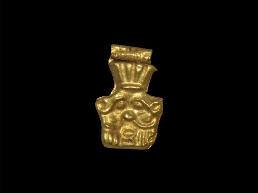 Phoenicio-Egyptian Gold Bes Amulet