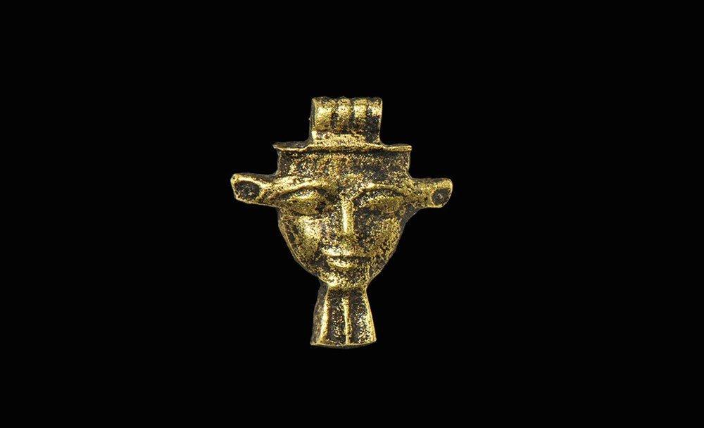 Egyptian Gold Mask Amulet