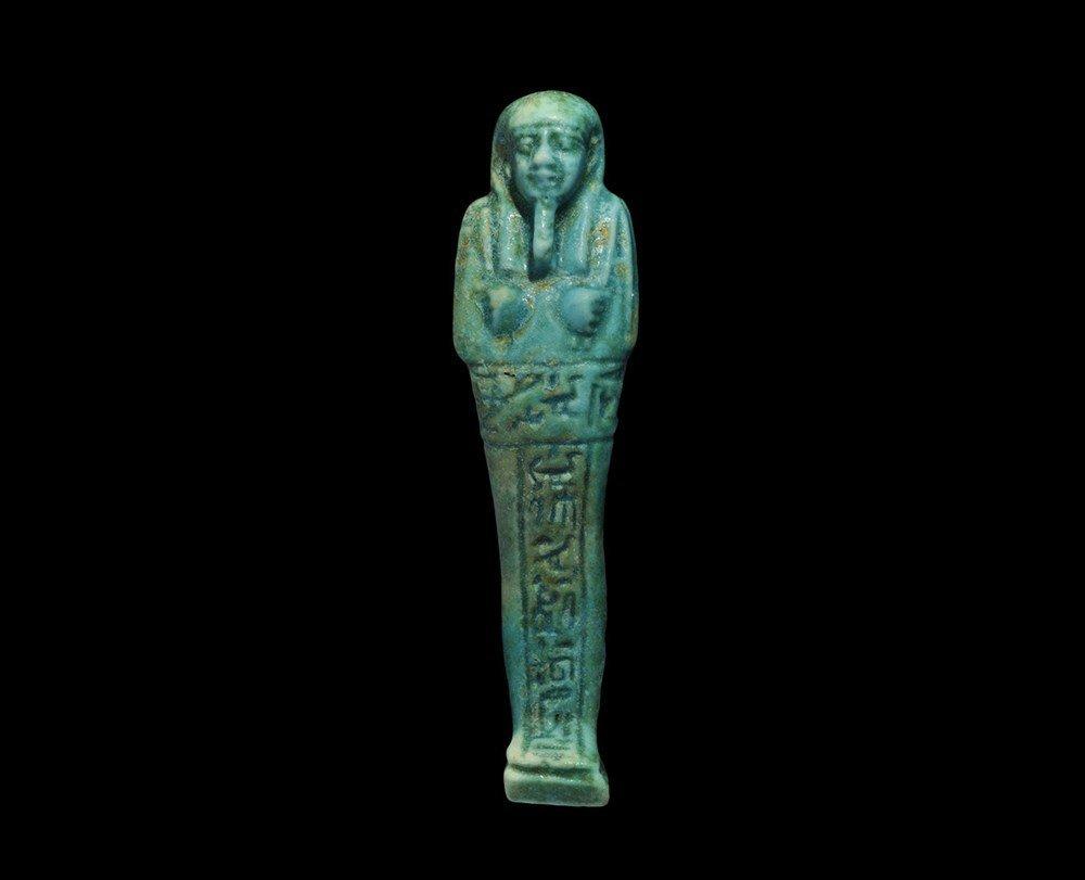 Egyptian Glazed Composition 'Semataui' Shabti